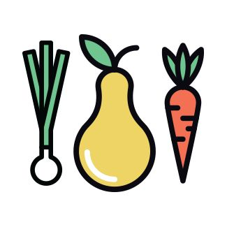 Icon of fruits and vegetables