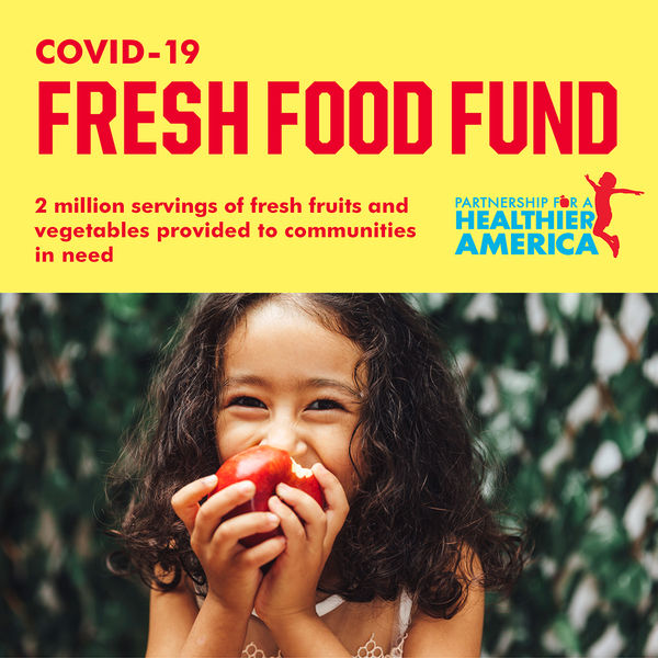 girl eating apple for fresh food fund