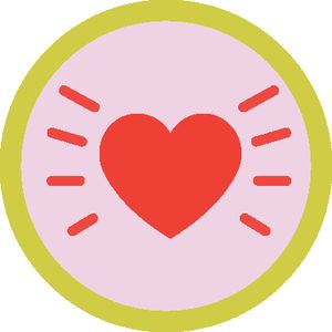 Pass the Love w/ Waffles + Mochi love badge