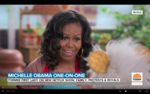 Former First Lady Michelle Obama helps teach about healthy eating in clip from Waffles + Mochi as featured on TODAY.