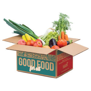 Box of produce for Good Food for All
