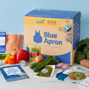 Blue Aron Box with Waffles + Mochi character