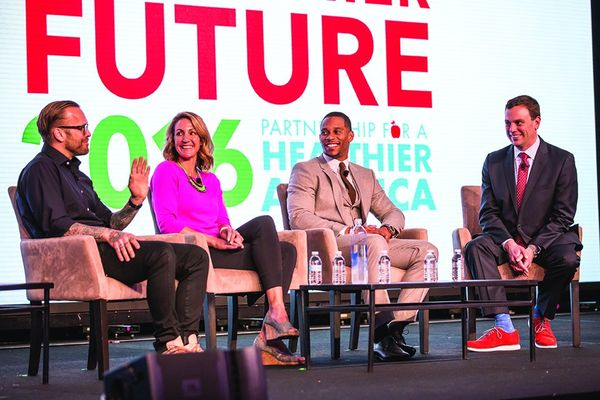 Celebrity speakers from Partnership for a Healthier America's 2017 Building a Healthier Future Summit, including Victor Cruz, Summer Sanders and Bob Harper.