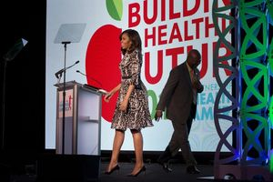 Michelle Obama delivering the keynote address at the Partnership for a Healthier America's 2016 Building a Healthier Future Summit.