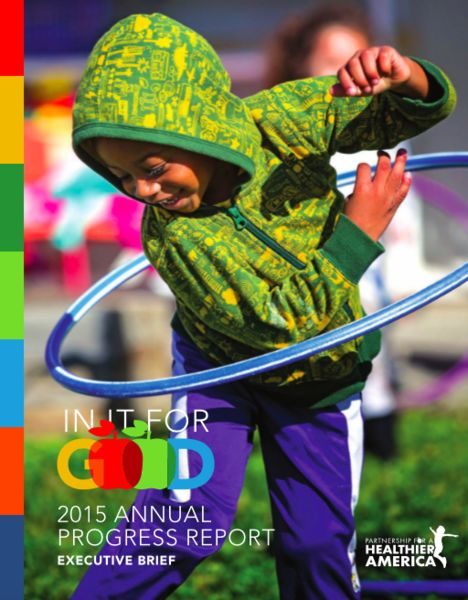 Cover image for Partnership for a Healthier America's 2015 Progress Report.