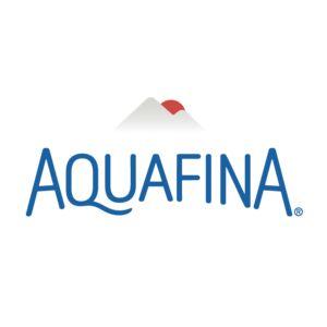Logo for Aquafina, a sponsor for the 2017 Building a Healthier Future Summit.