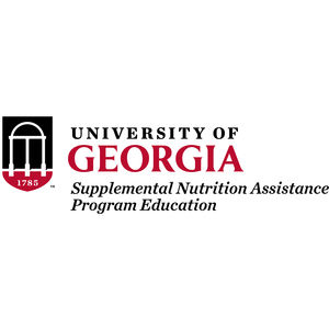 Logo for University of Georgia SNAP-Ed, a supporter of Partnership for a Healthier America's FNV initiative.