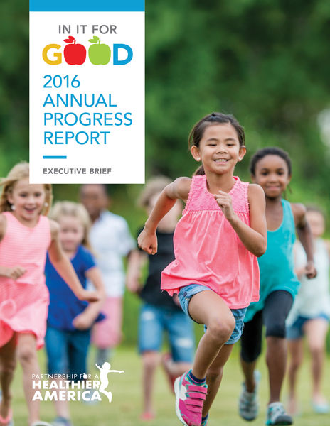 Cover image for Partnership for a Healthier America's 2016 Annual Progress Report.