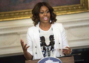 Michelle Obama photo in The Washington Post's coverage of the 2017 Building a Healthier Future Summit.