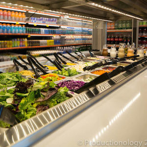 Image of a convenience store salad bar that offers healthier options to customers on the go.