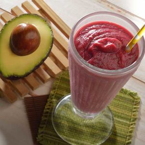 Image of a smoothie made with avocados from an Avocados from Mexico recipe.