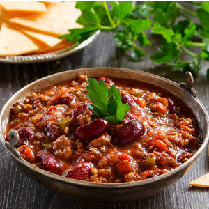 Image of Three Bean Chili recipe from Oklahoma State University.
