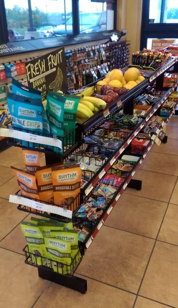 Image of healthier food options like fresh fruit at a Sheetz convenience store. Image courtesy of GasBuddy's Frank Beard for #PHABack2School.