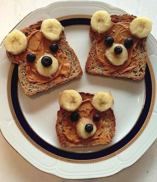 Image of teddy bear toast recipe from New Horizon Academy for the #PHABack2School campaign.
