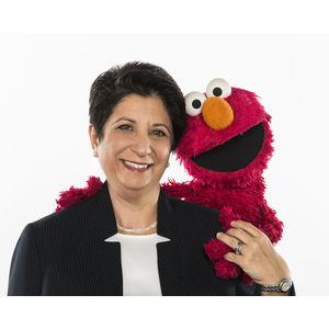 Image of Sesame Workshop's Rosemarie T. Truglio, Ph.D with Elmo.