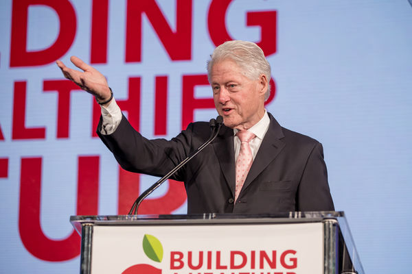 Image of President Bill Clinton, 42nd President of the United States, Founder, the Clinton Foundation, speaking at Partnership for a Healthier America's 2017 Building a Healthier Future Summit.
