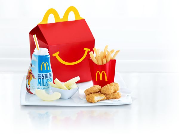 Image of a McDonald's Happy Meal.