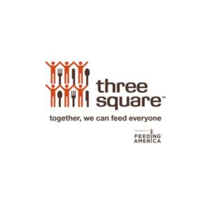 Logo for Three Square Food Bank, a Partnership for a Healthier America partner participating in the Food Assistance Partnership Program.