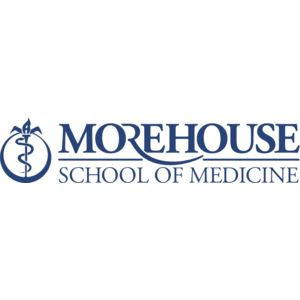 Logo for the Morehouse School of Medicine, a participant in Partnership for a Healthier America's Healthier Campus Initiative.