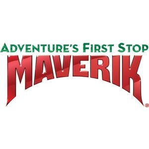 Logo for Maverik convenience stores, a Partnership for a Healthier America partner with a commitment to promote and provide healthier food and beverage items in stores.